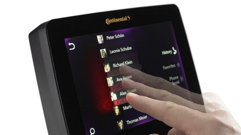 Die integrierte Suchhaptik ermöglicht das Erfühlen virtueller Kanten auf der Displayoberfläche.