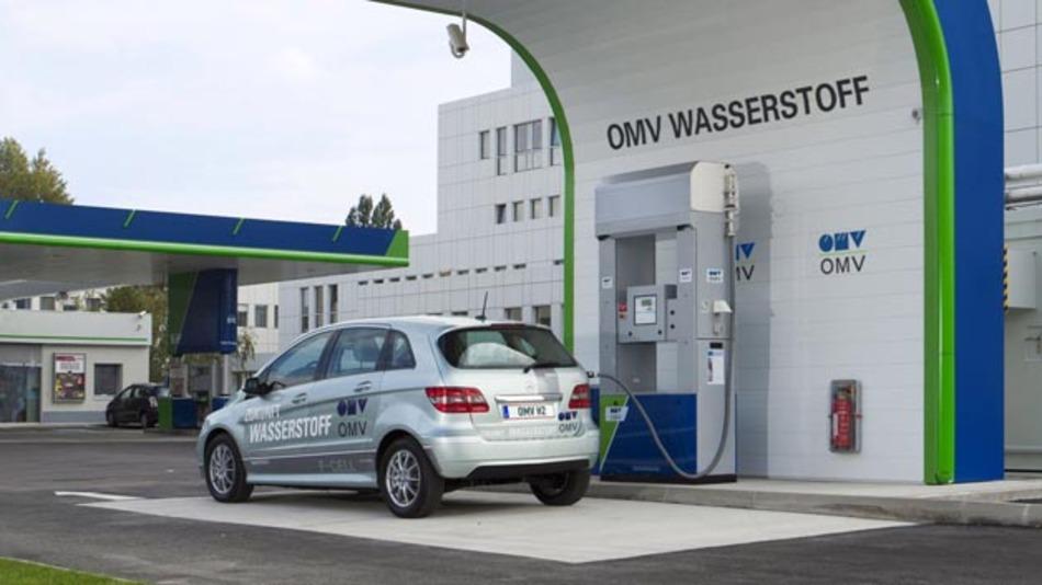 Neue H2-Tankstelle in Innsbruck von OMV und Linde.