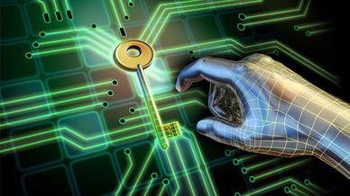 Schlüssel Hand Zugriff