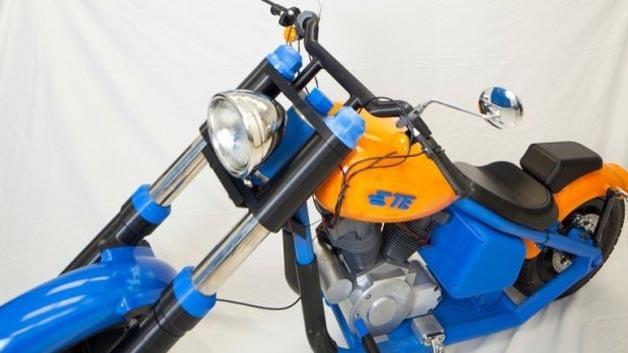 Elektromotorrad aus dem 3D-Drucker