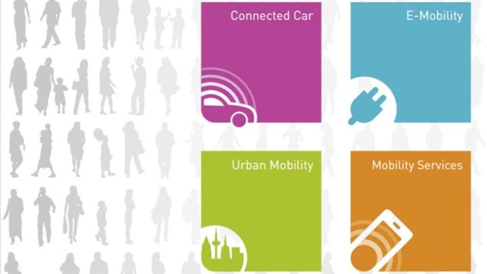Die Themen Vernetzung, Elektromobilität, automatisiertes Fahren, urbane Mobilität und Mobility-Services werden auf der IAA in dem Ausstellungsbereich New Mobility World gebündelt.