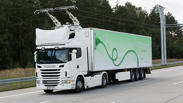 Siemens, eHighway in Schweden, Hybrid-LKW