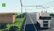 Siemens, eHighway in Schweden, Hybrid-LKW, Demo