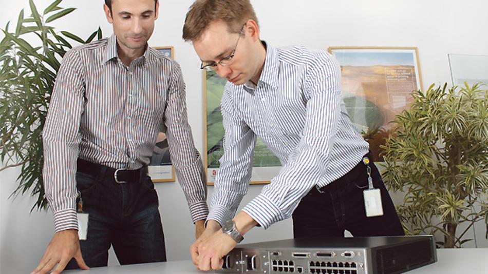 Die bei GE für das Projekt Verantwortlichen: 'System Engineer' Bernd Sporer (links) und 'Project Manager System Design' Oliver Grafe
