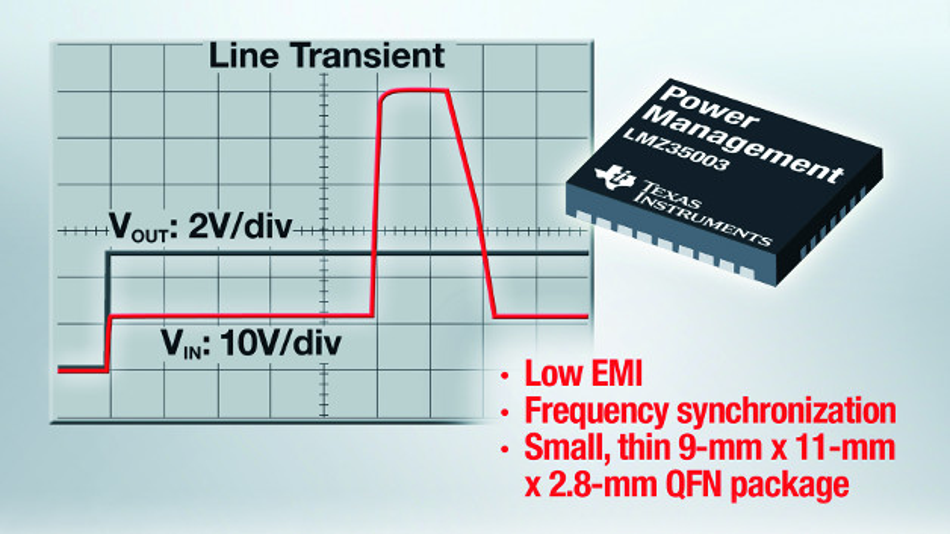 Das LMZ35003 SIMPLE SWITCHER Leistungsmodul ist eine einfach einzusetzende integrierte Stromversorgungslösung.