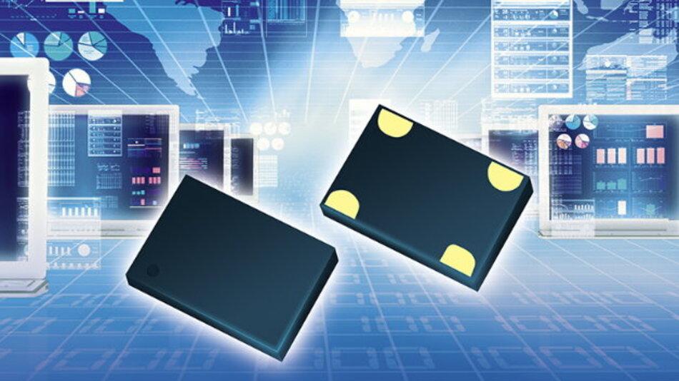 Etwa nur ein Zehntel des Stroms herkömmlicher Quarzoszillatoren nehmen die Silizium-Oszillatoren der »LPO«-Serie auf.