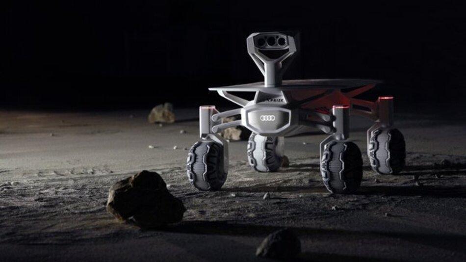 Eine Landefähre mit dem Mond-Rover Audi lunar quattro soll bis 2017 an Bord einer Trägerrakete ins All starten.