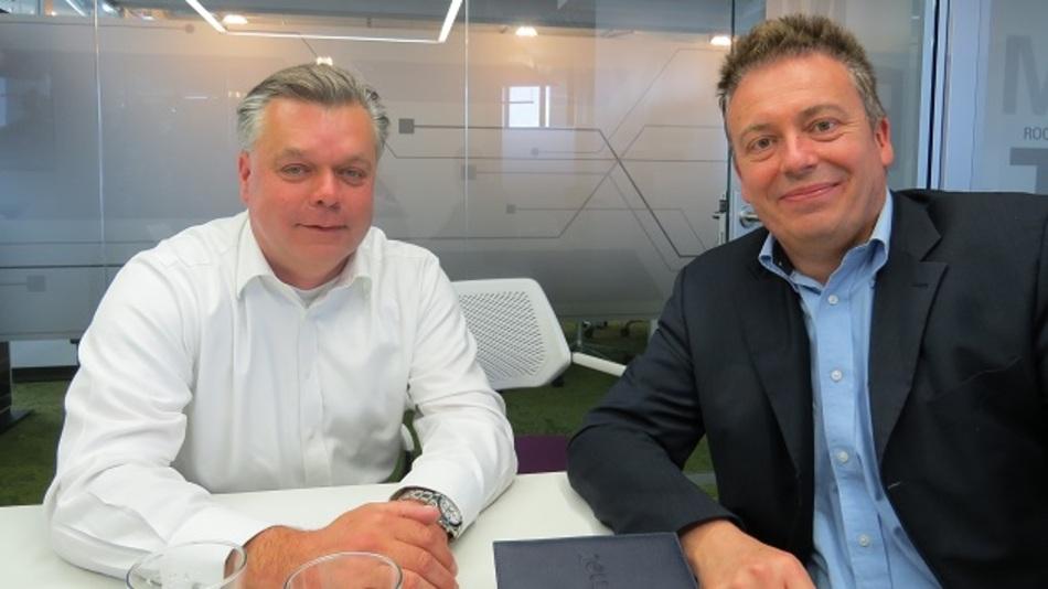 NVIDIAs Europa-Chef Jaap Zuiderveld mit Elektronik-Redakteur Frank Riemenschneider.