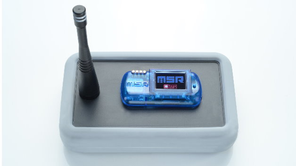 Der Mehrkanal-Datenlogger MSR385WD mit integriertem ISM-Band-Empfangsmodul empfängt und speichert die Messdaten von bis zu zehn MSR385SM-Sendemodulen.