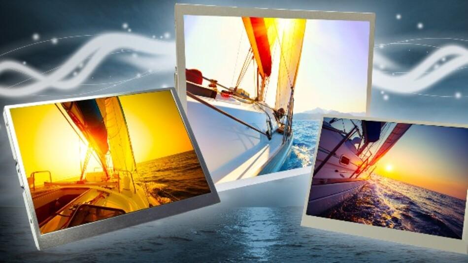 Dank einer Helligkeit von bis zu 1500 cd/m2 sind KOEs High-Brightness-LCD-Module mit Diagonalen von 7, 8 und 10,4 Zoll auch bei starkem Sonnenlicht gut ablesbar.