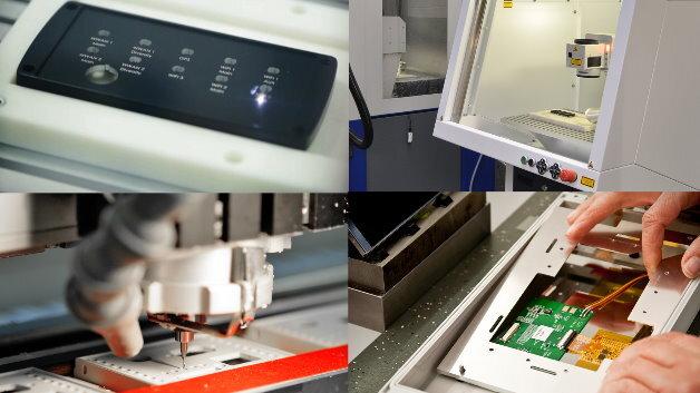 Die Laserbeschriftung ist ein besonders schnelles und flexibles Verfahren zur kundenspezifischen Oberflächengestaltung verschiedenster Gehäusematerialien
