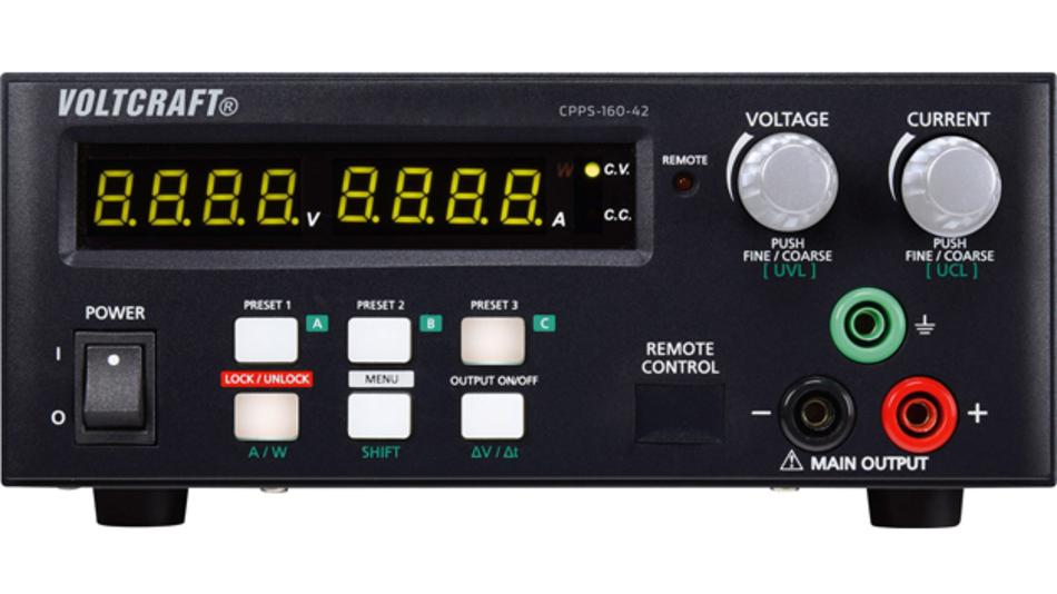 Das VOLTCRAFT CPPS-160-42 und CPPS-160-84 sind automatisch einstellbare Labornetzgeräte mit flexibler Ausgangssteuerung.