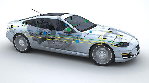 Vermehrter Einsatz des Ethernet in Netzwerk, Infotainment-System und Fahrerassistenz.
