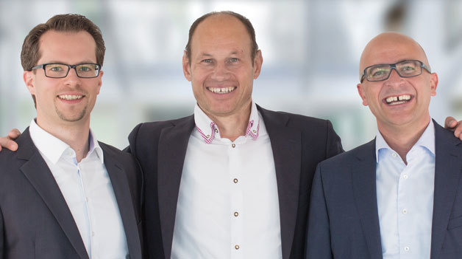 Aus zwei mach drei: Daniel Seiler (links) ist seit Anfang Juli der dritte Mann in der Geschäftsführung beim Kamerahersteller Imaging Development Systems.