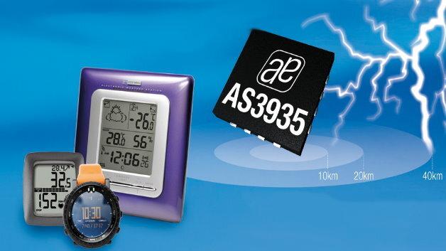 Der intelligente Blitzsensor AS3935 von ams warnt vor Gewittern in bis zu 40 km Entfernung