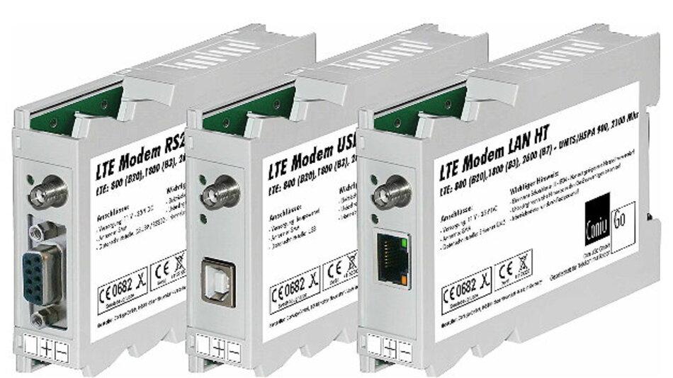 Mit unterschiedlichen Schnittstellen ausgestattet sind die LTE-Modems von ConiuGo.