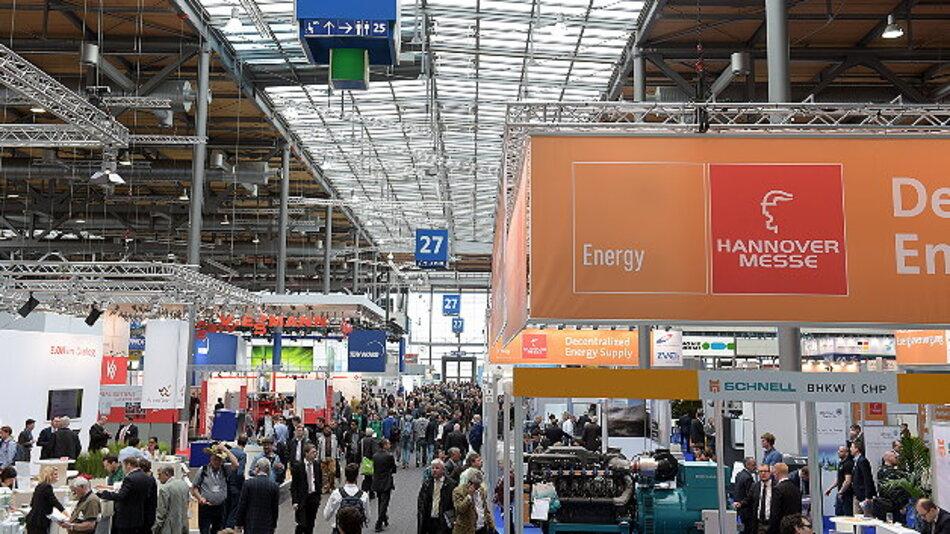 Die Messe »Energy« vereint als Teil der Hannover Messe rund 1300 Aussteller.