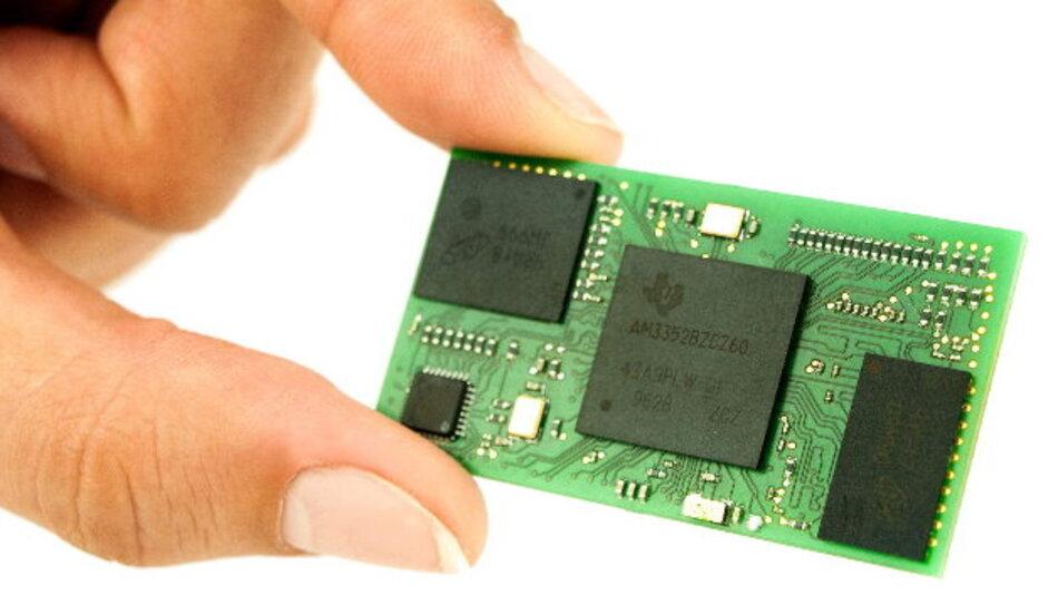 »BeagleCore« ist ein Kickstarter-Projekt das eine einlötbare Version des bekannten BeagleBone zum Ziel hat.