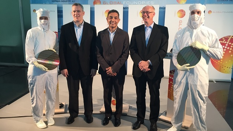 Globalfoundries-CEO Dr. Sanjay Jha (Mitte) präsentierte Dresden als FDSOI-Standort.