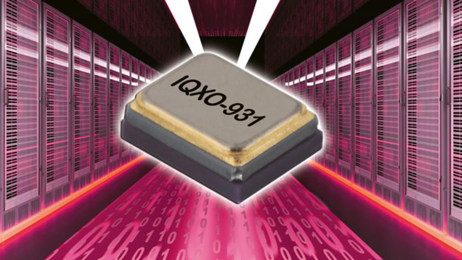 Die Taktoszillatorfamilie IQXO-931 ist in einem Frequenzbereich von 8 MHz bis zu 1,5 GHz erhältlich.