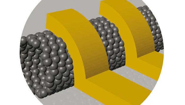 Die Anordnung zweier Leiter seitlich am Kohlenstoff-Nanoröhrchen reduziert die Signaldämpfung beim Übergang in eine deutlich größere Leiterstruktur.