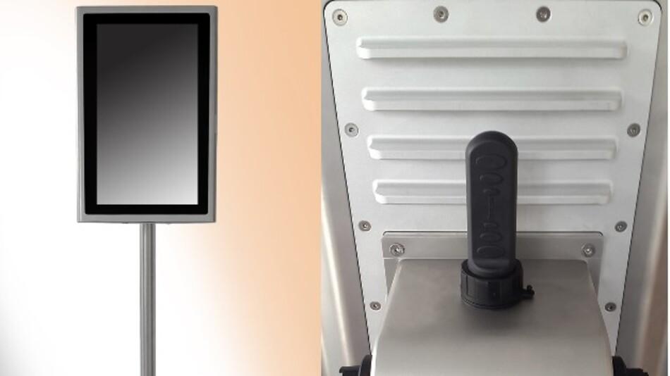 Nun auch im Hochformat montierbar sind Systec&Solutions' HMI-Multi-Touch-Systeme aus der Serie WAVE mit den Diagonalen 21,5 und 24 Zoll.