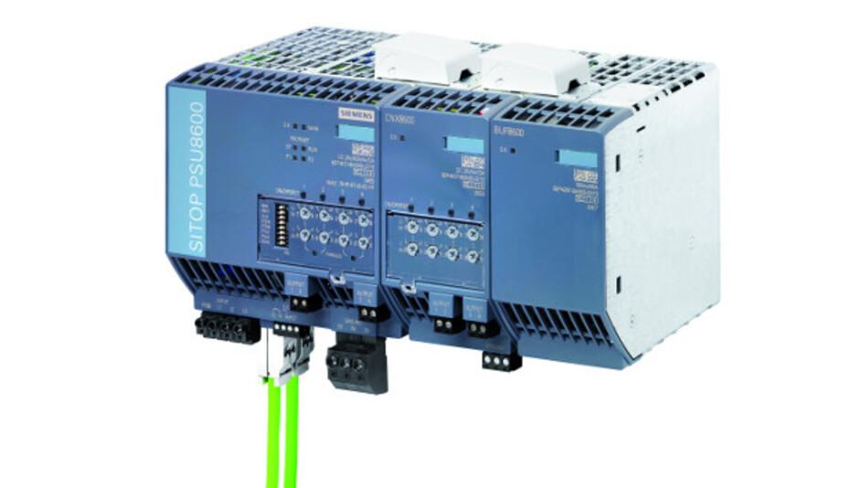 Bei der Sitop PSU8600 handelt es sich um die erste Gleichstromversorgung mit integrierter Industrial-Ethernet-/Profinet-Schnittstelle. Ihr Systembaukasten erlaubt die individuelle Erweiterung mit zusätzlichen Ausgängen sowie Puffermodulen, ohne zusätzlichen Verdrahtungsaufwand.