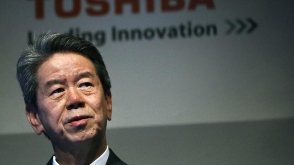 """Keine weitere """"Leading Innovation"""": Präsident Hisao Tanaka musste wegen gefälschter Bilanzen seinen Hut nehmen."""