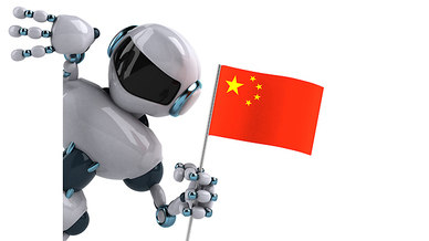 Roboter mit China-Flagge