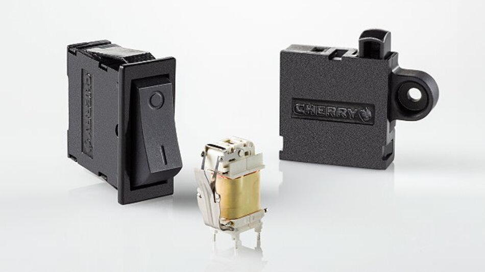 Jetzt von Cherry als Serienprodukte erhältlich: Energieautarke Funkschalter für industrielle Anwendungen