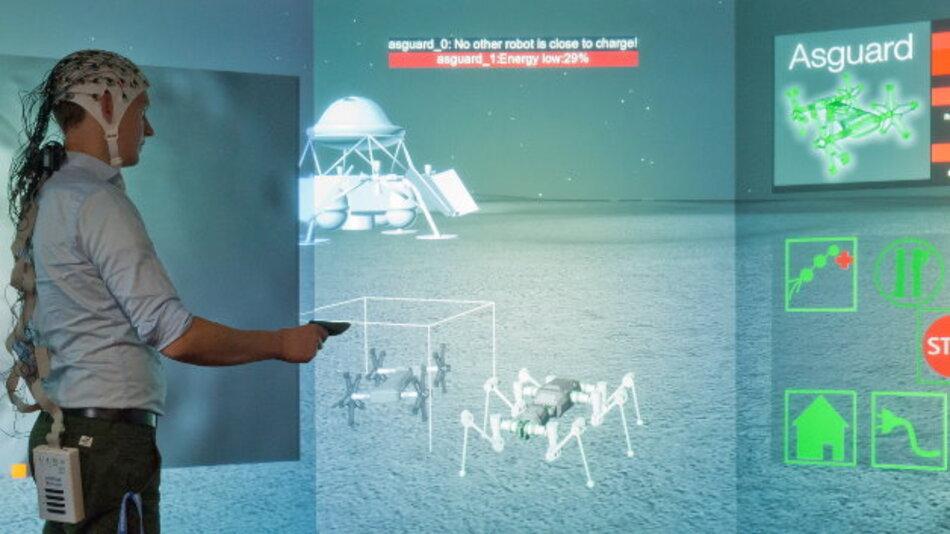 Robotersteuerung mittels der im DFKI-Projekt IMMI entwickelten Techniken