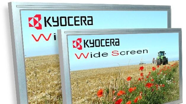 Kyoceras TFT-Module mit 10,1- und 12,1-Zoll-Diagonale bieten dank Breitbild-Format (16:10) seitlich mehr Platz für zusätzliche Informationen.