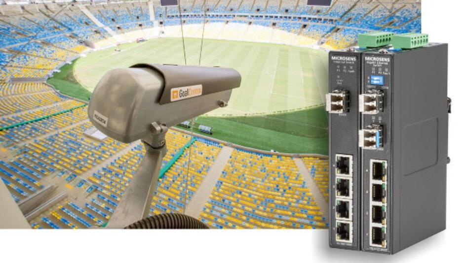 Der Datenstrom der Torbildkameras benötigt ein Glasfasernetzwerk auf der Basis robuster Komponenten.