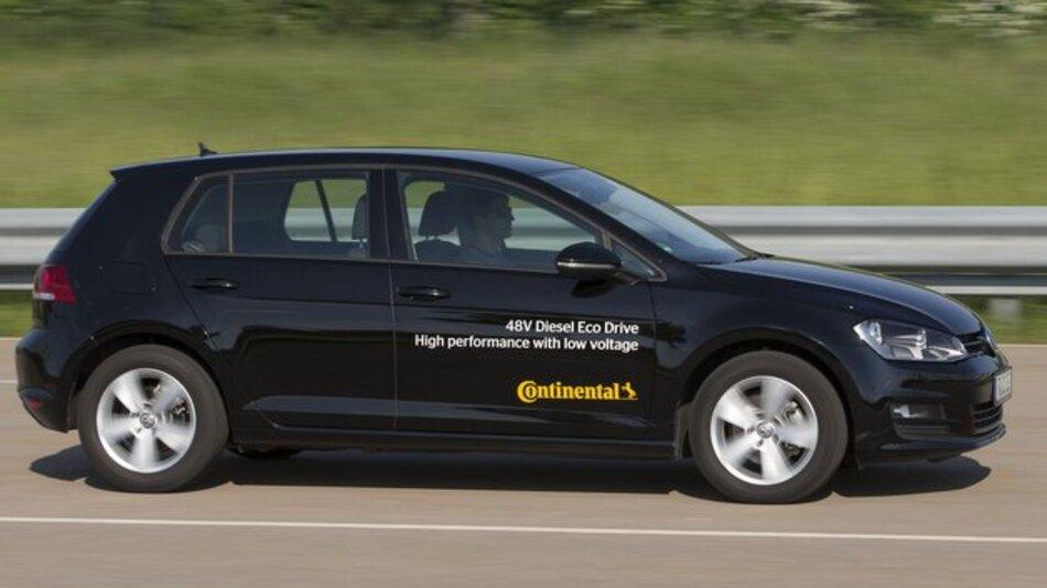 Continental stellt das Diesel-Eco-Drive-Demonstratorfahrzeug auf der IAA 2015 aus.