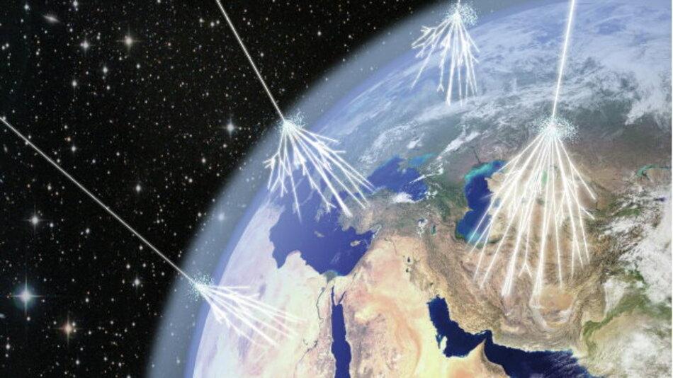Von der Atmosphäre gestreute kosmische Strahlung