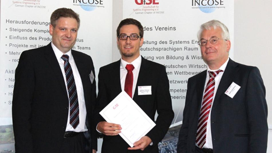 Der Höhepunkt von Andreas Friesingers Bildungskarriere ist seine Auszeichnung mit dem Studienpreis 2014 von der GfSE Gesellschaft für Systems Engineering