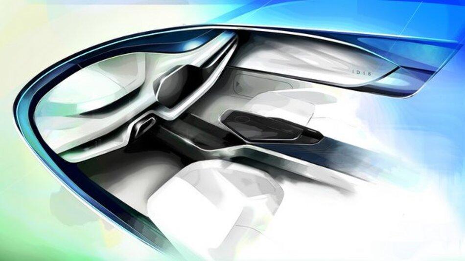 Das Konzeptfahrzeug ID 16 führt über 30 Produktideen und marktreife Technologien zusammen.