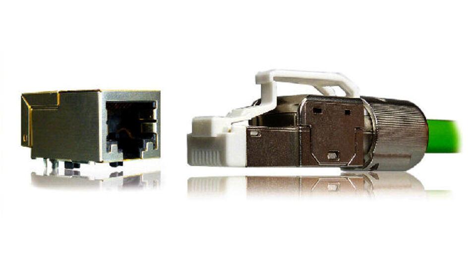 Bild 1. Cat.6A-RJ45-Plug und –Jack-Ausführungen der Serie Y-Con Profix