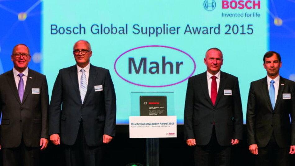 Preisverleihung: (v.l.n.r.): Dr. Karl Nowak, Stephan Gais, Uwe Kauder und Robert Huter