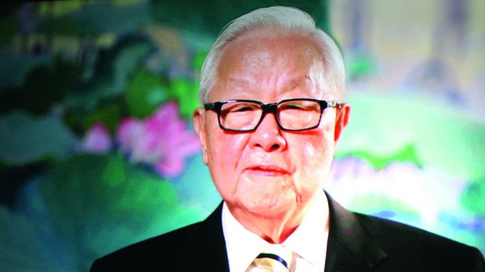 """Bild 1. Morris Chang, Founding Chairman von TSMC, sprach per Videoübertragung zu den Teilnehmern des IMEC Technology Forum: """"Mit der Erschließung der dritten Dimension und EUV-Lithografie ist der Weg der Halbleiterindustrie für die nächste Dekade vorgezeichnet."""""""