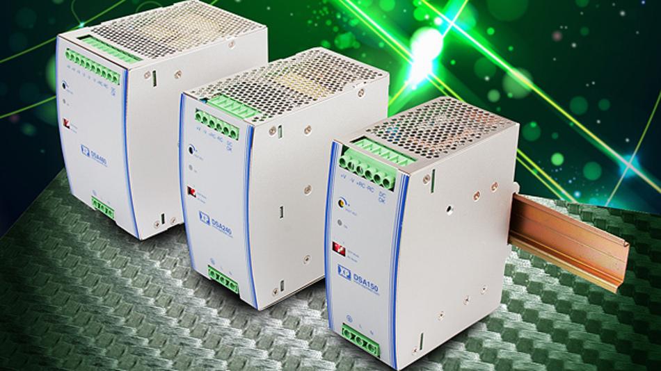 Sein Hutschienen-Portfolio erweitert XP Power um drei schmale DIN-Schienen-Netzgeräte der Serie »DSA«. Die konvektionsgekühlte Netzgeräte-Serie besteht aus drei Modulen: Das DSA150 mit 150 W und 87 % Wirkungsgrad misst 99,8 × 125,2 × 55,5 mm³, das DSA240 mit 240 W hat die Abmessungen 117,8 × 125,2 × 65,8 mm³ und weist einen Wirkungsgrad von 92% auf, und das DSA480 mit 480 W bietet einen Wirkungsgrad von 94 % bei einer Größe von 123,35 × 124,8 × 86,3 mm³. Am Signalausgang sind 24 V oder 48 V DC möglich; die Ausgangsspannung ist um ±5 % einstellbar. Die Geräte arbeiten im weiten Eingangsspannungsbereich von 90 bis 264 V (AC), bieten eine Überlastfähigkeit für bis zu 150 % der nominalen Ausgangsleistung für drei Sekunden und lassen dem Anwender die Wahl von verschiedenen Überstromverhalten am Ausgang des Geräts. Den Betriebstemperaturbereich gibt XP Power mit –25 bis +70 °C an, wobei die volle Ausgangsleistung von +25 bis +50 °C zur Verfügung steht.