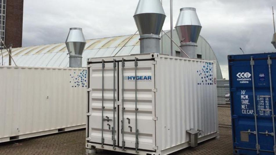 Die Anlage von Hygear wandelt Diesel und Biodiesel in Wasserstoff um.