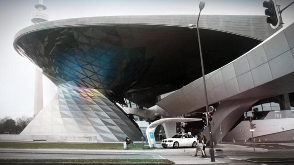 Solarladestation an der BMW Welt in München.