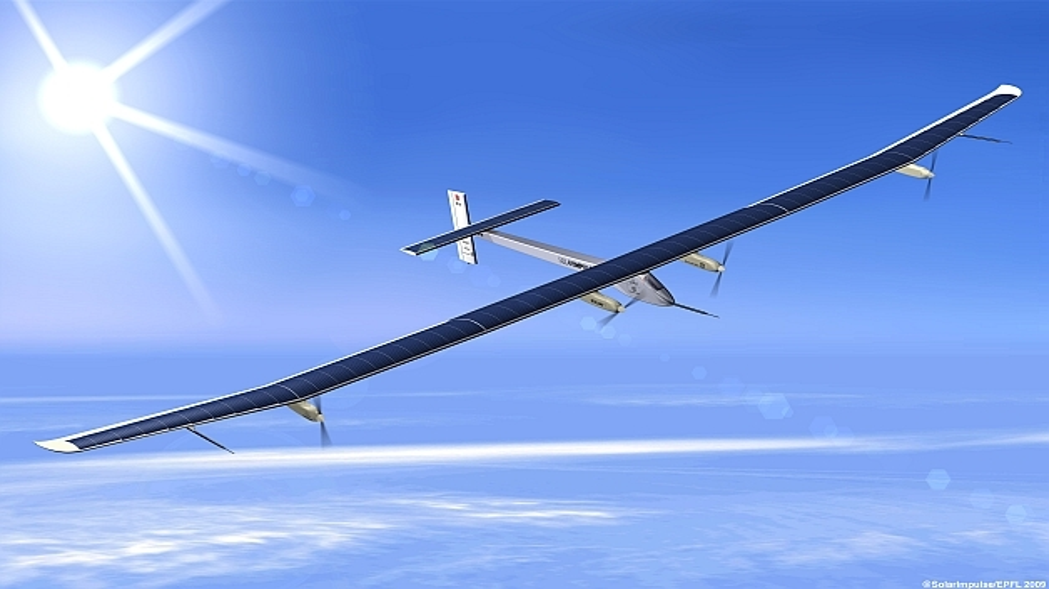 Rekordflug des Solar-Flugzeugs Solar Impulse