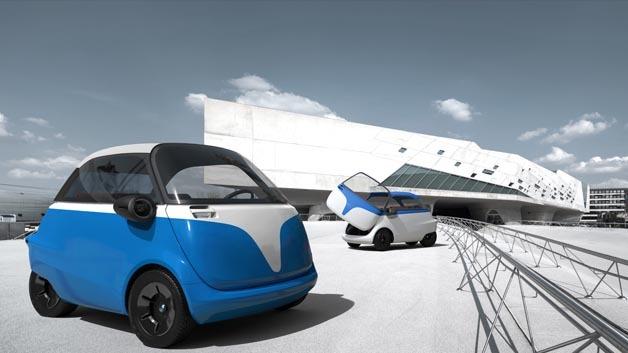 Der elektrisch angetriebene Microlino basiert auf der legendären BMW Isetta.