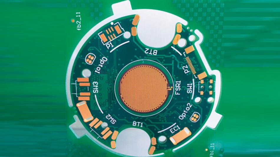 Das elektronische  Innenleben einer  Patch-Pumpe von Escatec