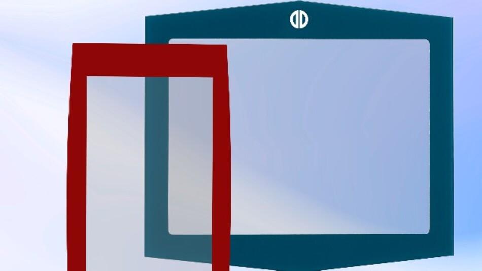 Eine große Vielfalt an Design-Varianten bei seinen kompakten PCAP-Touch-Lösungen ermöglicht Distec durch die Kombination der Multi-Touch-Folie mit kundenspezifischem Deckglas.