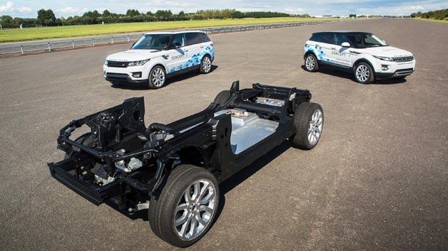 Die Concept_e-Versuchsträger von Jaguar Land Rover