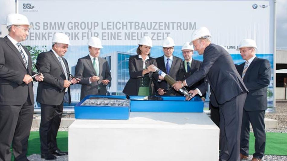 Grundsteinlegung BMW Group Leichtbauzentrum im Werk Landshut