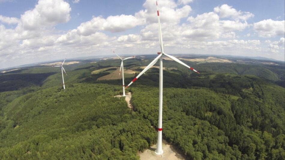 Der Windpark Hohenstein-Galgenkopf in Hessen.